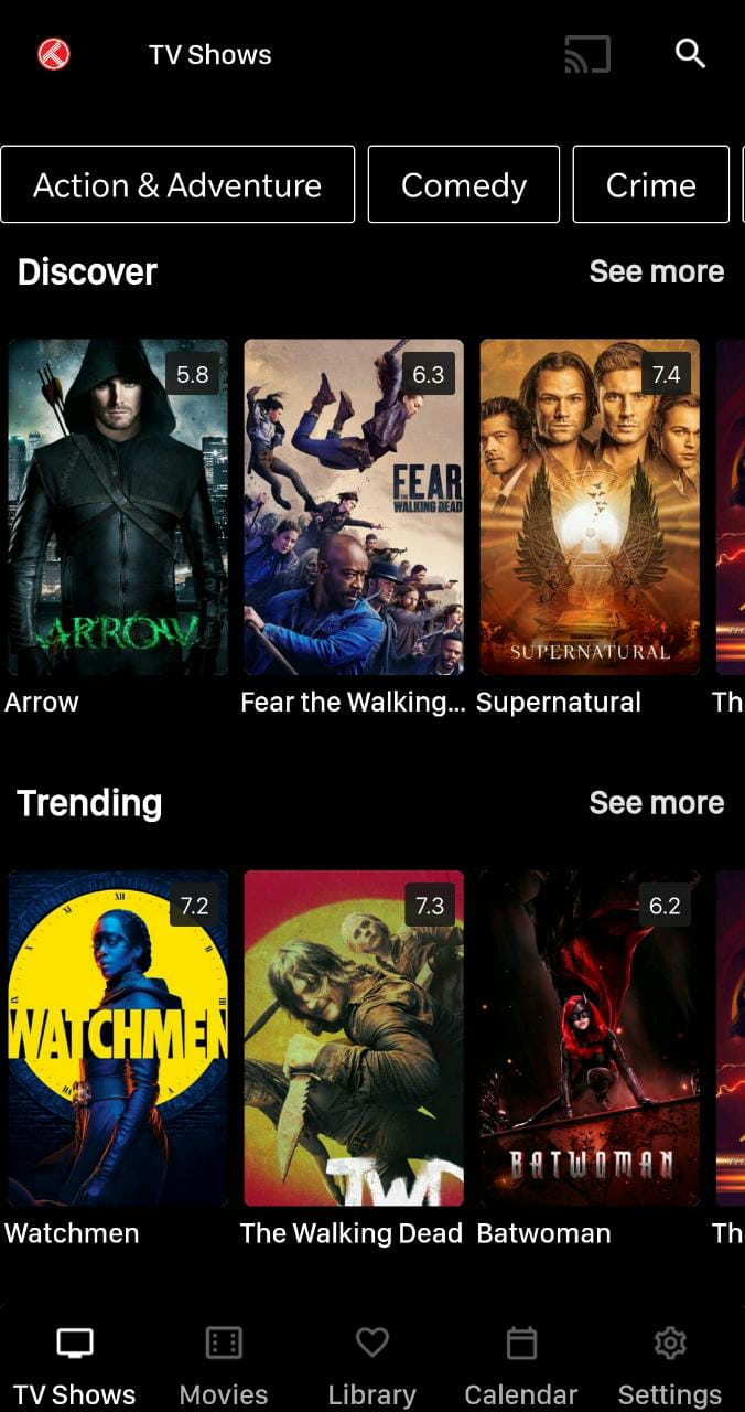 Nova APK Movie Interface